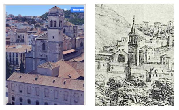 Detalle del Dibujo de Pier María Baldi  S. Jerónimo de Granada