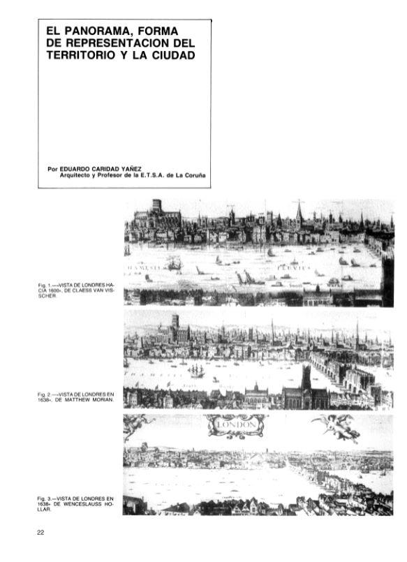 El panorama, forma de representación del territorio y la ciudad
